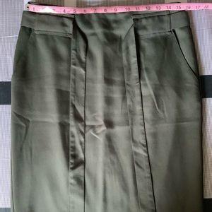 Banana Republic Olive Green Pencil Skirt